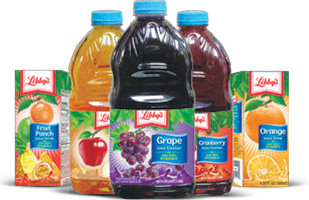 Libbys Juices grouped together